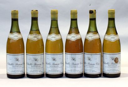 6 end CHABLIS MONTMAINS 1991 (1 to 4 and 1 to 5cm)