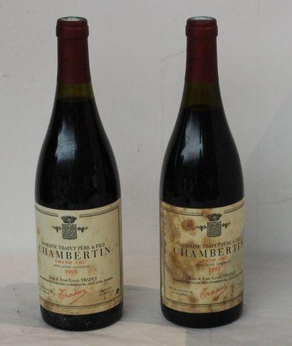 2 bout CHAMBERTIN TRAPET 1993 (ETIQ LEG ...