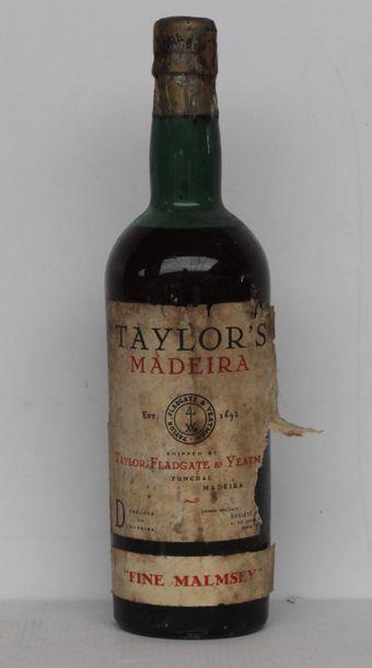 1 end MADEIRA TAYLOR'S FINE MALMSEY VERY...