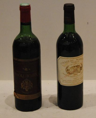 2 bout 1 CHT MARGAUX 1980 NTLB, 1 CHT PICART...