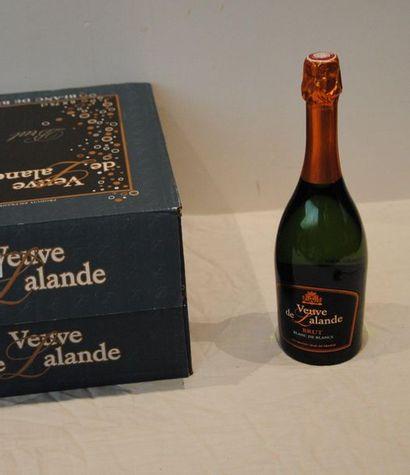 18 bout VEUVE DE LALANDE MOUSSEUX BRUT BLANC...