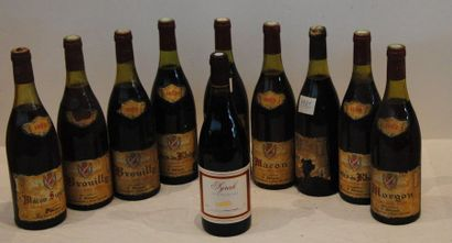 16 bout VINS DIVERS ; MACON, BROUILLY, COTE...