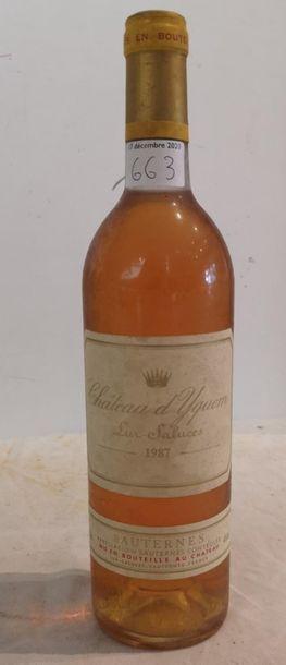 1 end Château Yquem 1987 (BG)