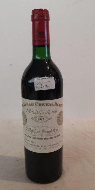 1 end Château Cheval Blanc 1987 (BG)