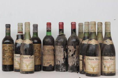 12 bout 7 VINS DE TABLE 1964, 2 CHT LA RIVIERE...