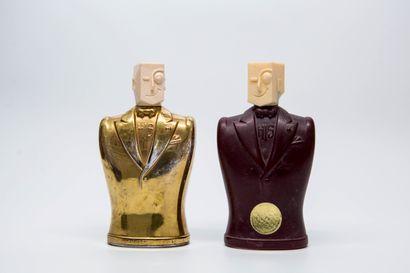 His - (1947 - Chicago)  Deux flacons modernistes...