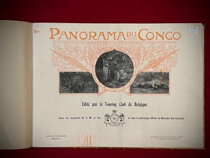 Panorama of the Congo, hardcover book, printed by Ch. Bullens, Brussels 1912, containing...