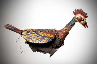 BAMBARA ou BOZO (Mali)  CIMIER de danse polychrome...