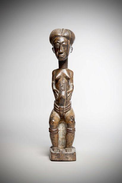 BAOULE (Côte d'Ivoire)  STATUE féminine,...