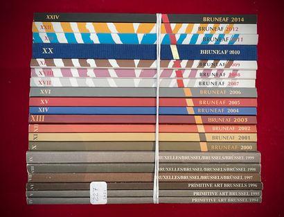 Ensemble de 20 catalogues Exposition BRUNEAF,...