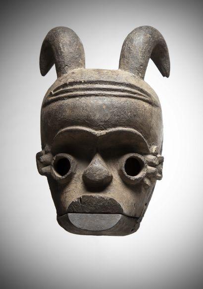 IBIBIO (Nigéria)  MASQUE à mâchoire mobile,...