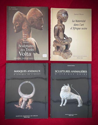 Quatre ouvrages de Gabriel Massa:  Sculpture...