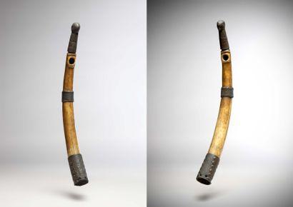 FON (Benin)  Paire de TROMPES d'appel en...