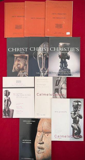 Ensemble de 10 catalogues de vente Loudmer/Poulain,...