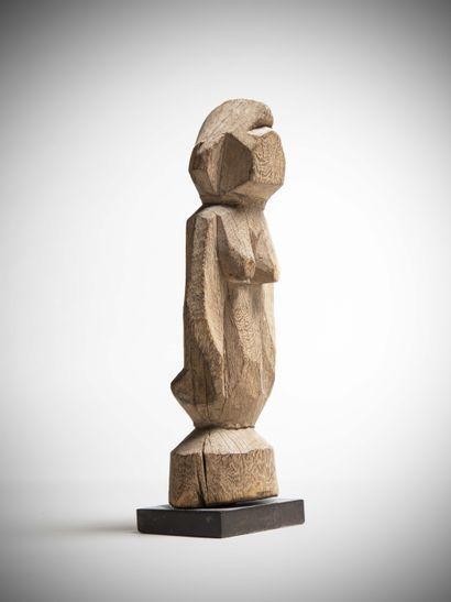 SENOUFO (Mali)  STATUE féminine en bois naturel...