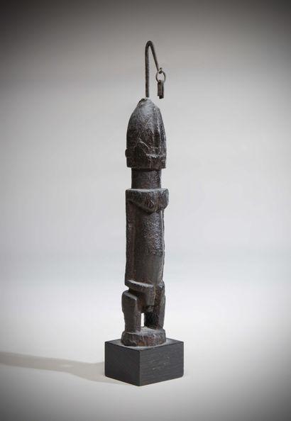 DOGON (Mali)  STATUETTE masculine, visage...