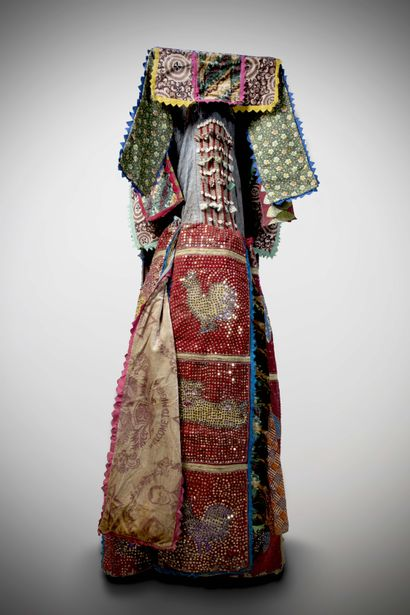 YORUBA (Nigéria)  COSTUME de danse Egungun....