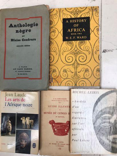 Cinq ouvrages : Antologie nègre Blaise Cendras...