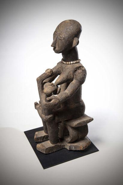 ASHANTI (Ghana)  STATUE de maternité ancienne...