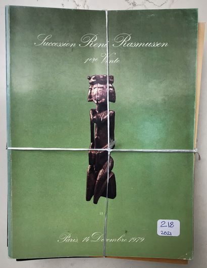 LOT de 22 catalogues de vente d'Art Tribal de 1972 à 2000 dont vente succession...