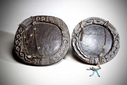 YORUBA (Nigéria)  Deux PLATEAUX de divination...