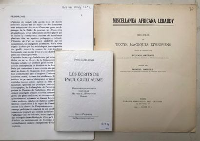 Un ouvrage et deux fascicules : Les écrits...