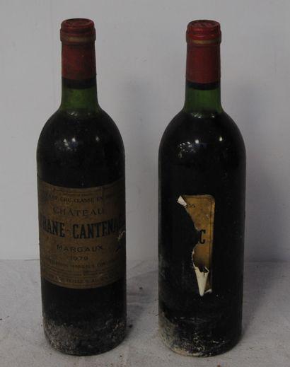 2 bout CHT BRANE CANTENAC 1979 (1 SANS ETIQUETTE,...