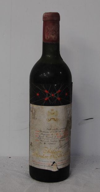 1 bout CHT MOUTON ROTHSCHILD 1959 (debut...
