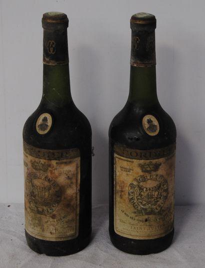 2 bout CHT GRUAUD LAROSE 1966 (tb, étiquettes...