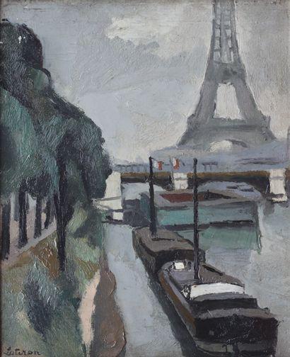 Robert LOTIRON (1886-1966) Quai de Seine...