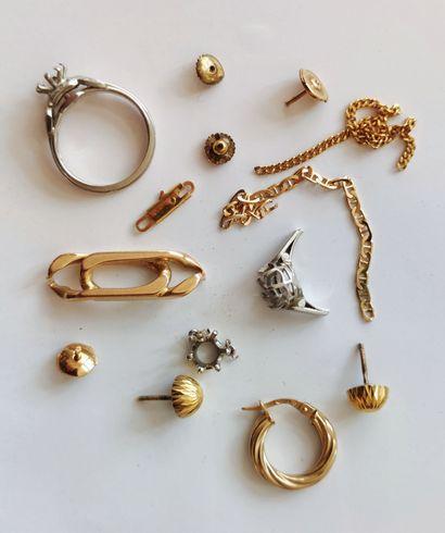 Batch of gold and platinum scrap, weight:...