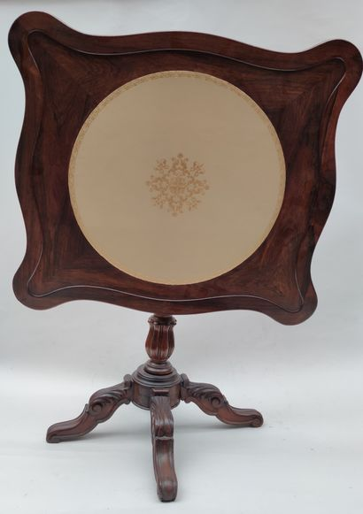 GUERIDON with tilting rosewood top, Napoleon...