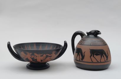 CIBOURE Ceramic bowl and pitcher Marked...