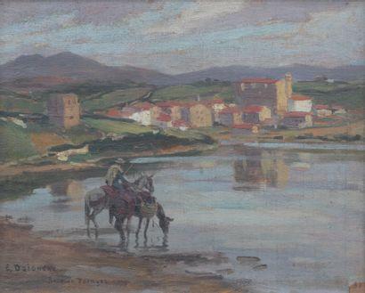 Édouard DOIGNEAU (1865-1954) Cavalier et...