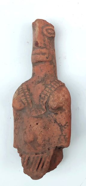 STATUETTE in Koma terracotta with pinkish...