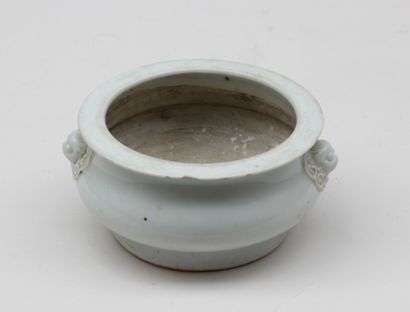 Small BURNER-PARFUM in white porcelain,...