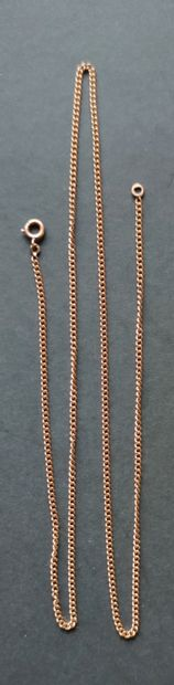 CHAIN in yellow gold 750°/°° Weight : 8.8 gr Length : 60 cm