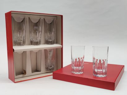 BACCARAT Set of 6 whisky glasses in a box...