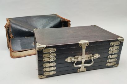 Antique jeweller's MALET with several compartments...