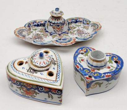 DESVRES Three INKINGS with an ink cup in...