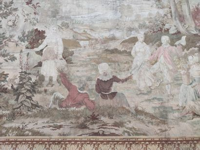 WOOL TAPESTRIES with motive of a gallant...