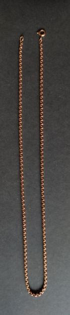 CHAIN in yellow gold 750°/°° Weight : 19.2 gr Length : 44 cm