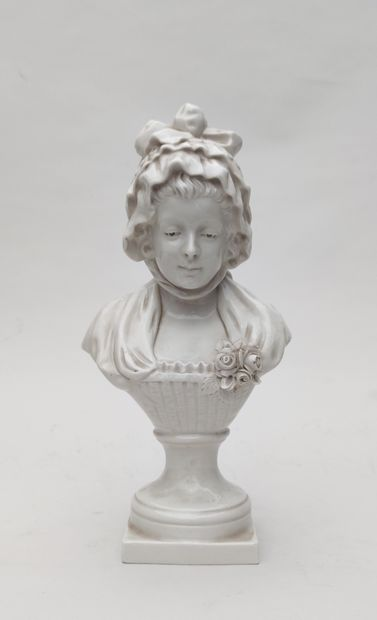 F KESSLER BUST OF YOUNG WOMAN AFTER GREUSE...