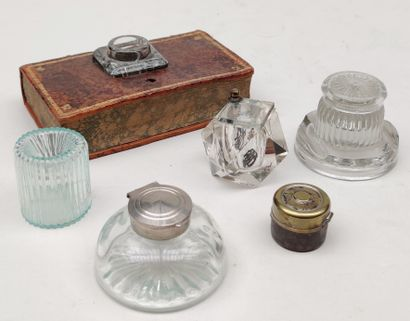 MISCELLANEOUS Six INKERS: five in glassware,...