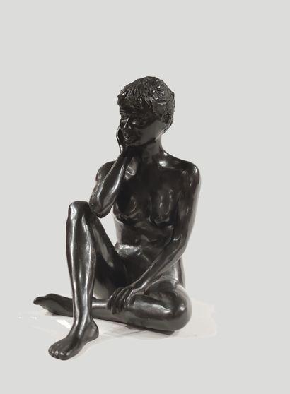 CLAUDE GOLFIER (1932) Laura Bronze proof,...