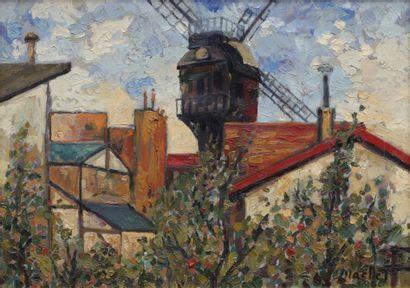 Elisée MACLET (1881-1962) Montmartre, Moulin...