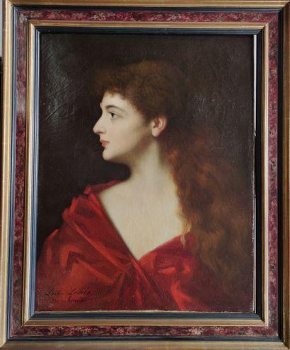 LEMEE Léontine after Henner Female bust...