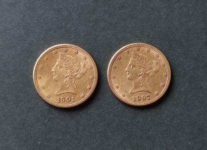 Two $10 PIECES to the Eagle 1897 and 1901 Selling expenses: 10% VAT included