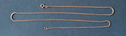 CHAIN in yellow gold 750°/°° Weight : 9.2 gr Length : 59 cm