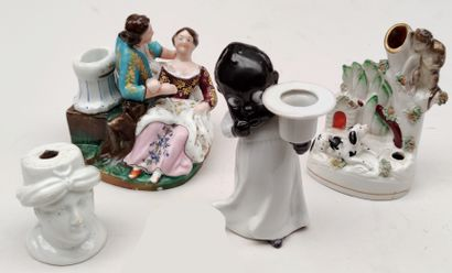 MISCELLANEOUS Three porcelain and earthenware...